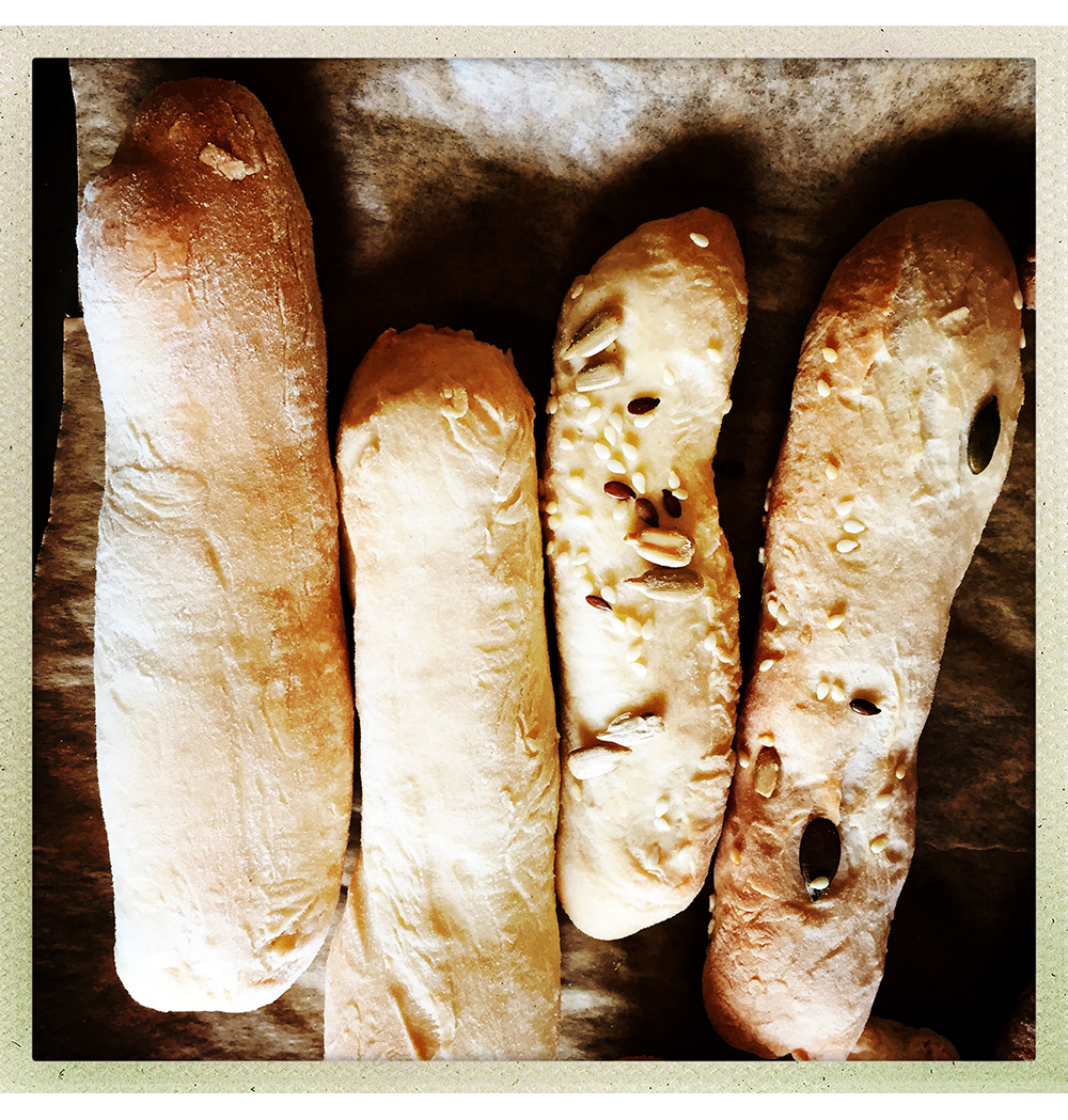 ITALIAN BREADSTICKS BAKED HIPSTAMATIC