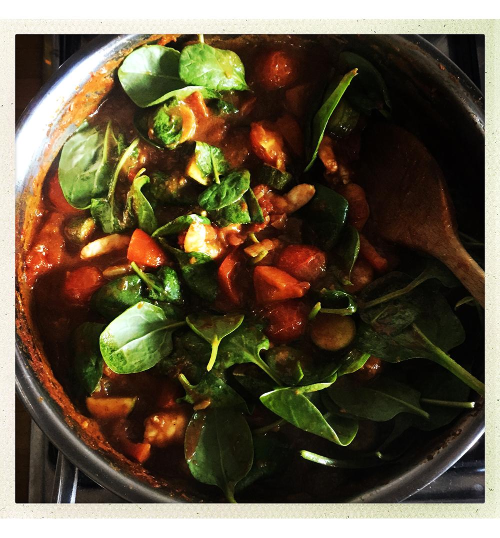 PJ plus spinach