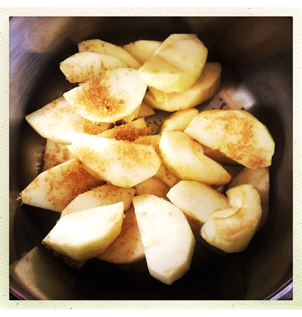 APPLES COOKING IN POT