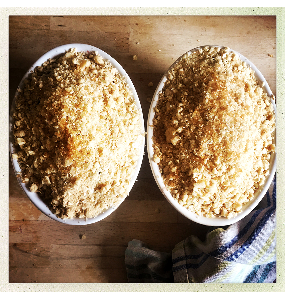 CRUMBLES READY FOR OVEN