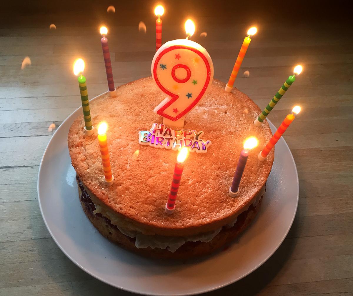 Baileys 9th Birthday Cake Thelegendarybrownie